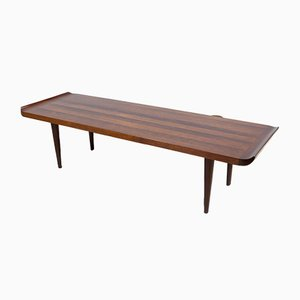 Vintage Dutch Rosewood and Oak Rectangular Coffee Table, 1940s