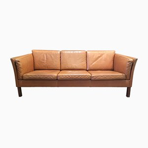 Scandinavian Modern Leather Sofa, 1960s