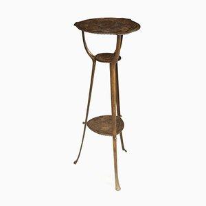 Antique Art Nouveau Cast Iron Side Table