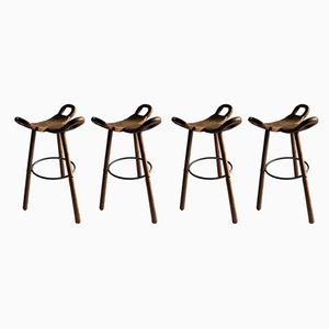 Brutalist Spanish Model Marbella Bar Stools from Conoform, 1970s, Set of 4