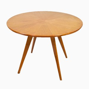 Vintage Birch Round Side Table from Wilhelm Renz, 1960s