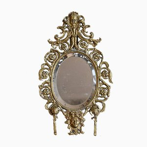 19th Century French Gilt Brass Mirror