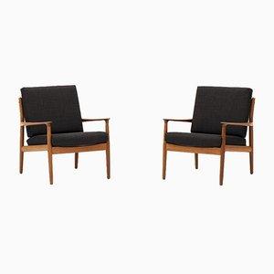 Dänische Sessel von Grete Jalk für France & Søn / France & Daverkosen, 1960er, 2er Set