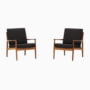 Danish Lounge Chairs by Grete Jalk for France & Søn / France & Daverkosen, 1960s, Set of 2