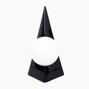 Vintage Pyramidal Ceramic Table Lamp