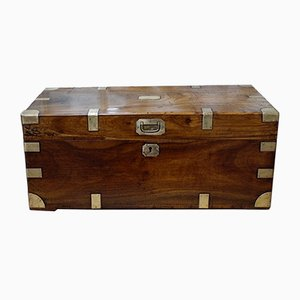 Antique Camphor Wood Military Campaign Chest