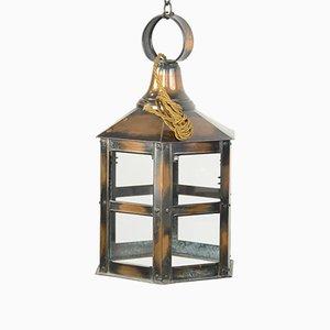 Lanterne Antique en Cuivre, Angleterre, 1910s