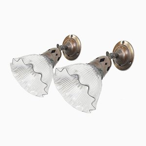 Antique Sconces from Holophane, Set of 2