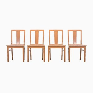 Swedish Farmhouse Chairs, 1940s, Set of 4