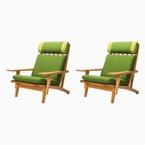 Danish Model GE 375 Armchairs by Hans Wegner for Getama, 1960s, Set of 2