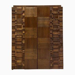 Brutalistischer Schrank aus Nussholz von Paul Evans für Lane Furniture, 1970er