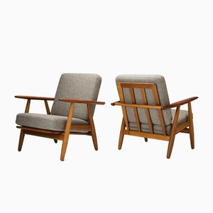 Danish Model GE 240 Cigar Chairs by Hans Wegner for Getama, 1950s, Set of 2