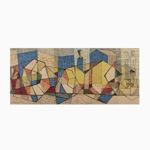 Litografía sueca Mid-Century de Axel Olson