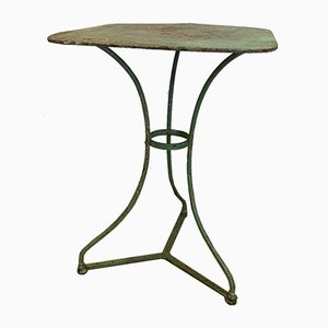 French Wrought Iron Bistro Table, 1940s