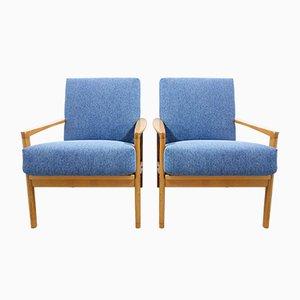 Blaue Sessel von Walter Knoll für Walter Knoll / Wilhelm Knoll, 1960er, 2er Set