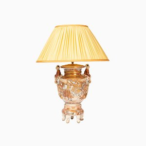 Lampe de Bureau Antique en Faïence, 1880s