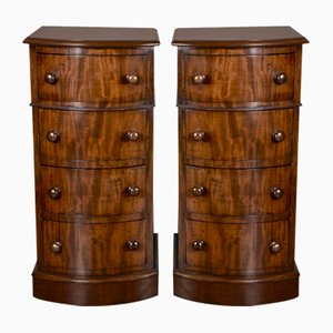 Tables de Chevet Antiques en Acajou, Set de 2