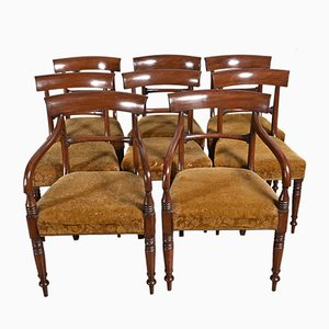 Antike Regency Esszimmerstühle aus Mahagoni, 8er Set