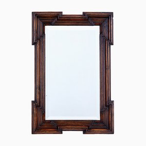 Antique Gothic Style Oak Mirror