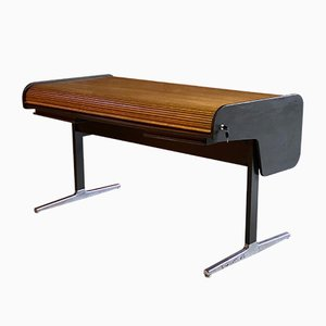 Oak Tambour Desk by George Nelson for Herman Miller, 1960s