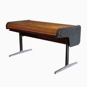 Schreibtisch aus Eiche mit Rolltür von George Nelson für Herman Miller, 1960er