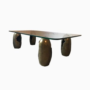 French Bronze Coffee Table, 1970s