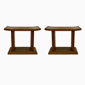 Pinewood Footstools, 1940s, Set of 2