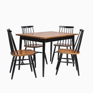 Esszimmerstühle & Tisch von Ilmari Tapiovaara, 1950er, 5er Set