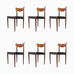 Esszimmerstühle von Oswald Vermaercke für V-Form, 1950er, 6er Set