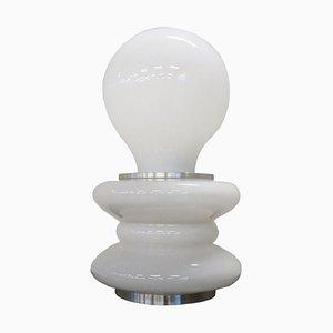 Lámpara de mesa vintage de cristal de Murano de Mazzega, años 70