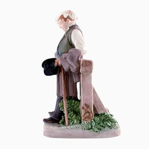 Porcelain The Thirsty Man Figurine from Bing & Grondahl, 1950s