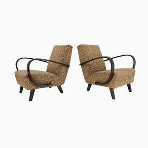 Art Deco Armchairs by Jindřich Halabala for UP Závody, 1940s, Set of 2