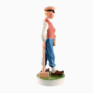 Porcelain Farmer Boy Figurine from Royal Copenhagen, 1960s