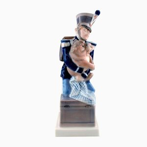 Porcelain The Soldier and the Dog Figurine from Royal Copenhagen, 1970s
