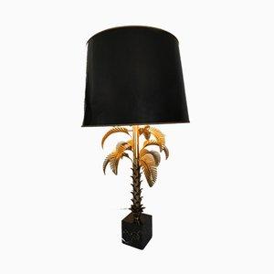 Goldene Tischlampe von Maison Jansen, 1960er
