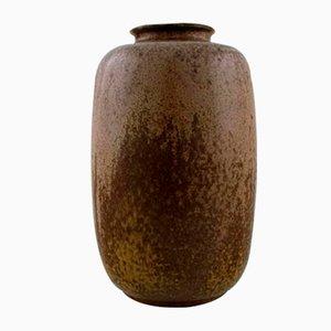 Glasierte Keramikvase von Arne Bang, 1930er