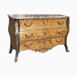 Commode Antique en Noyer et Marbre, France