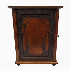 Antique Art Nouveau Wood Cabinet