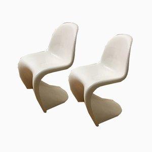 Esszimmerstühle von Verner Panton für Fehlbaum, 1970er, 2er Set