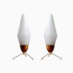 Rocket Table Lamps by Stanislav Kučera for Kamenický Šenov, 1960s, Set of 2