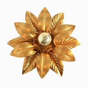 Vintage Hollywood Regency Flower Ceiling Lamp