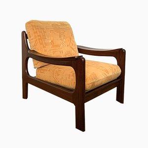 Dänischer Armlehnstuhl aus Afromosia, 1960er