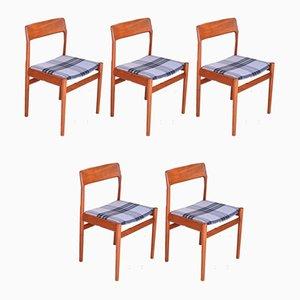 Esszimmerstühle aus Teak von Norgaard Mobelfabrik, 1963, 5er Set