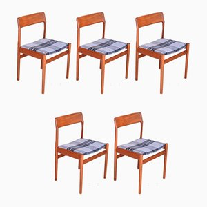 Teak Dining Chairs from Norgaard Mobelfabrik, 1963, Set of 5
