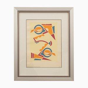 Estarcido francés Art Déco de Serge Gladky para Serge Gladky, años 20