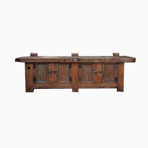 Banco de carpintero de madera de pino, años 20