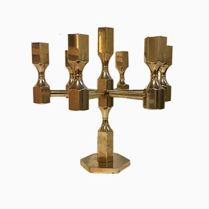 Vintage Swedish Brass Candleholder from Metallslöjden, 1970s