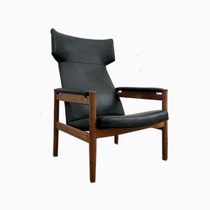 Teak Wing Lounge Chair by Soren Hansen for Fritz Hansen, 1960s