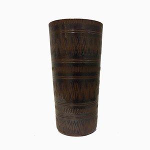 Mid-Century Swedish Stoneware Vase from Wallåkra, 1950s