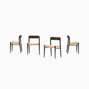 75 Dining Chairs by Niels Otto Møller for J.L. Møllers, 1960s, Set of 4